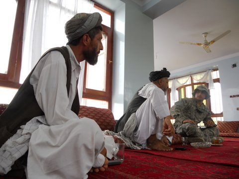 Malik Kadory & Almas Udin meet with soldiers of the Vermont National Guard