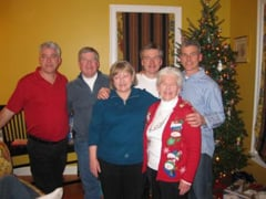 Pat O'Hagan with her children. From left: Shawn, Matt, Maureen, Terry, Pat, Mark