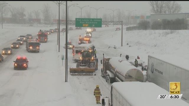 Truck driver arrested after drivers stranded during Quebec snow storm