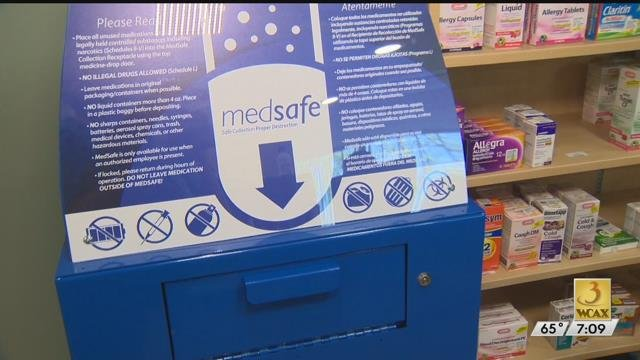 UVM Medical Center offers pill take-back boxes