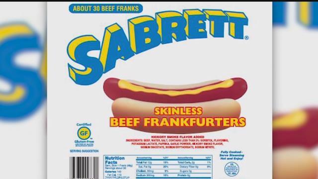 Sabrett recall due to bone pieces