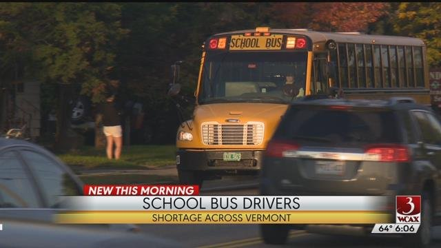 Shortage of bus drivers in Vermont