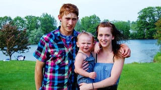 Chris Davis, Samanthajo Assisi and baby Lillyan