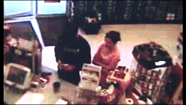 Surveillance photo of Michael Jacques and Brooke Bennett from the day Brooke disappeared.