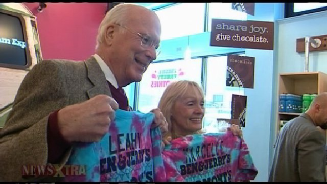 Sen. Patrick Leahy with his wife Marcelle