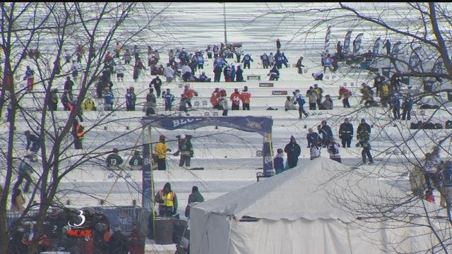 Pond Hockey Tournament Kicks Off (video)