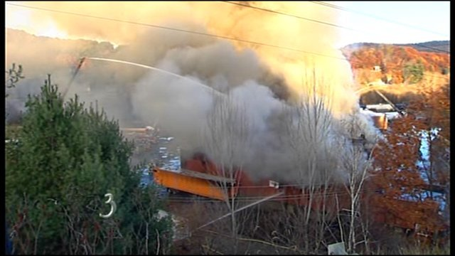 Pete's Tire Barn consumed by fire